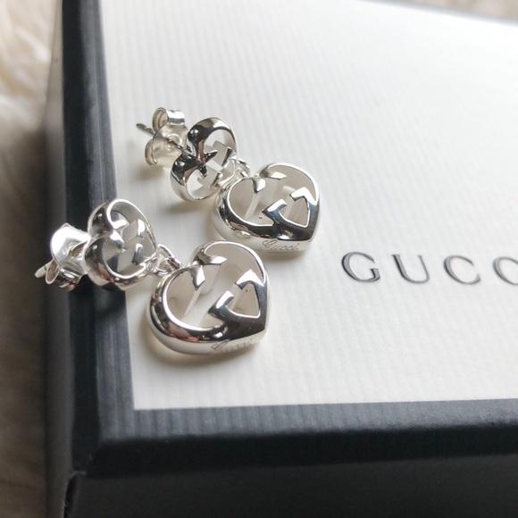 897e200a3c3 GUCCI Love Britt Heart Earrings 💕 free shipping